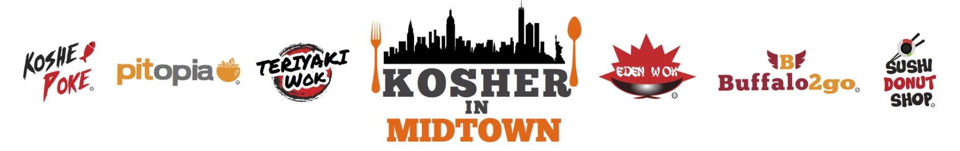 kosher in midtown logos banner