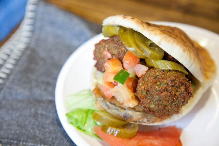 pitopia falafel sandwich