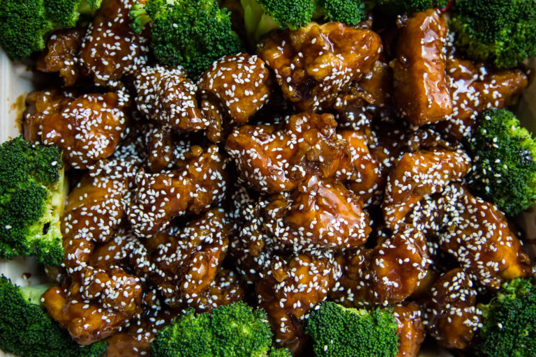 sesame chicken tray